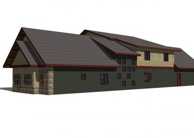 Gull Lake Residence -Pre-Construction Rendering
